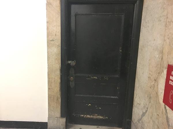 Flatiron basement bathroom door