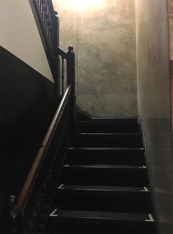 Flatiron basement stairs
