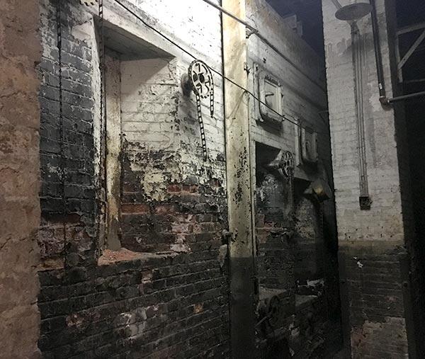 Flatiron basement coal chute