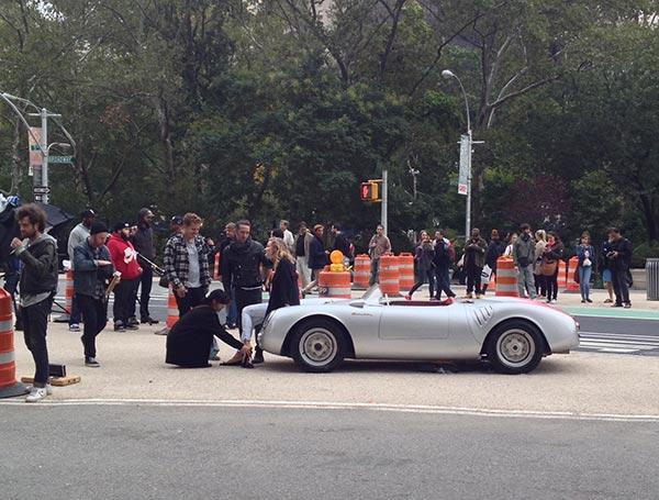 Car and model shoot on Flatiron Plaza