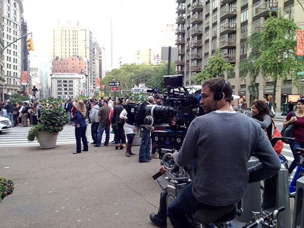 Film Shoot on Flatiron Plaza