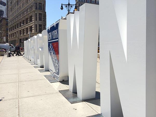 NY Rangers on Flatiron Plaza