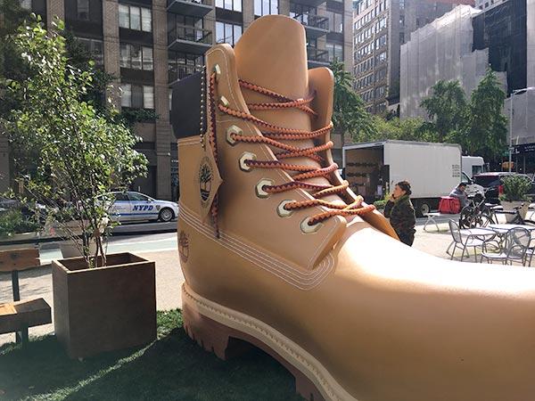 Timberland Boot on Flatiron Plaza